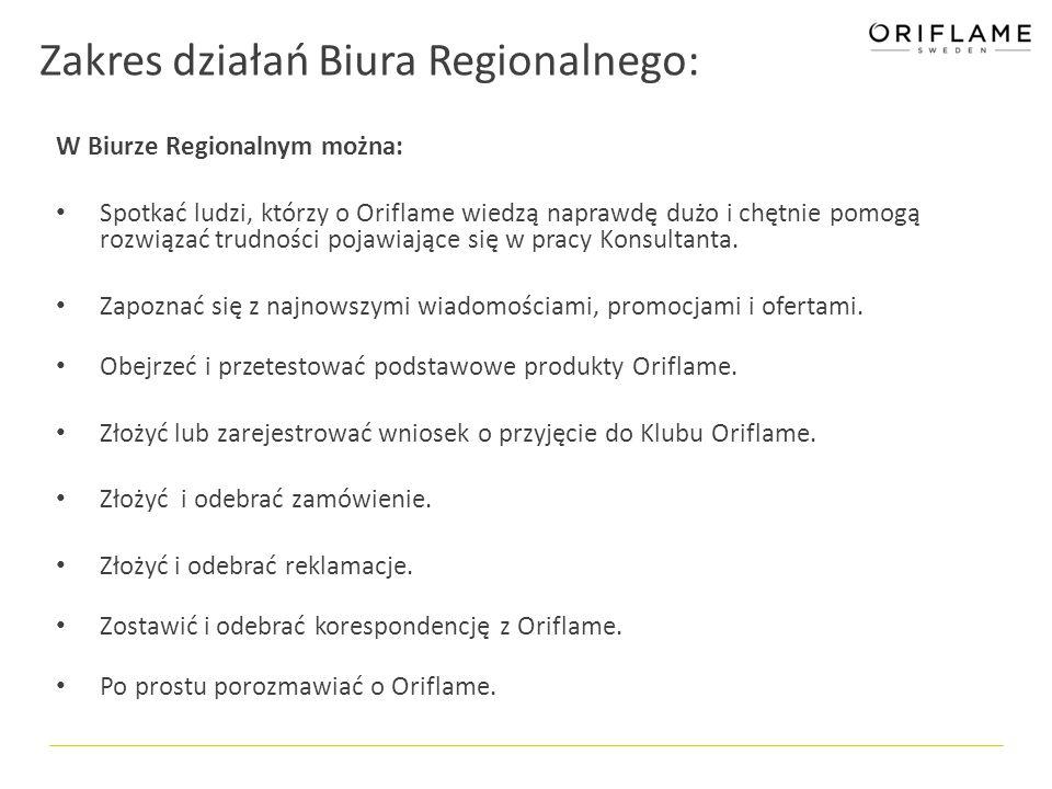 Wymagania stawiane prowadzącym i ich Biurom Regionalnym: Oriflame Poland, umożliwiając Ci prowadzenie Biura, pozwala korzystać z wielu przywilejów i dodatkowych korzyści.