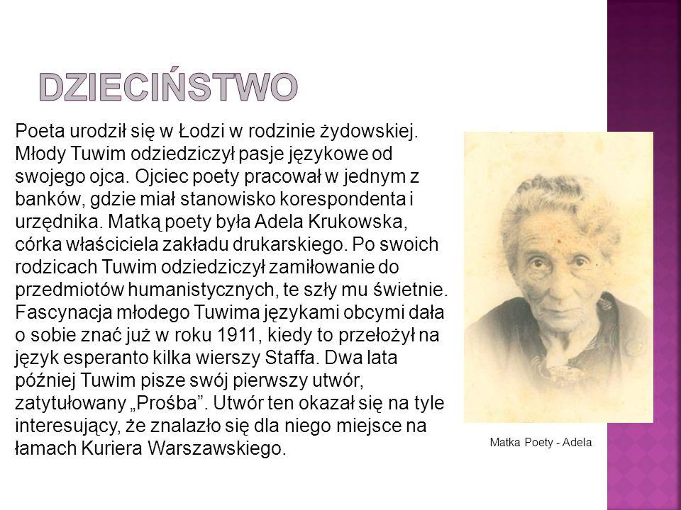 Poeta urodził się w Łodzi w rodzinie żydowskiej.