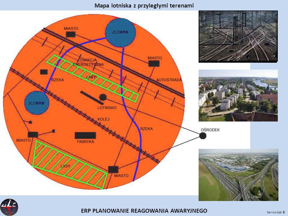 Sarnoci ń ski ® ERP PLANOWANIE REAGOWANIA AWARYJNEGO Mapa lotniska z przyległymi terenami