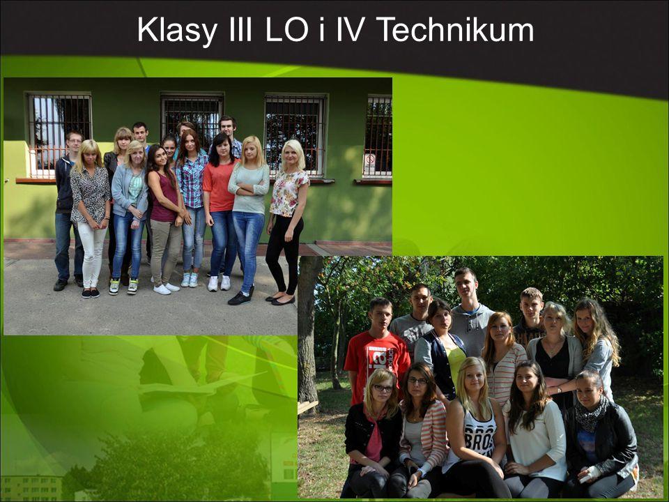 Klasy III LO i IV Technikum