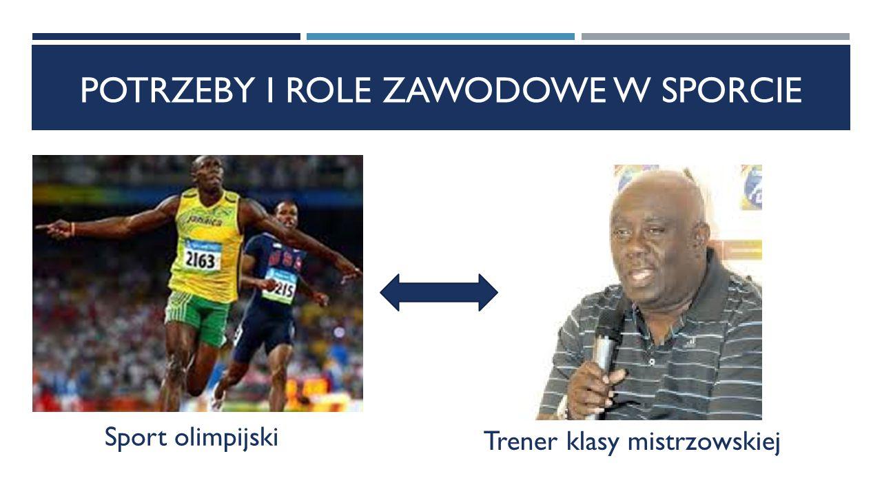 POTRZEBY I ROLE ZAWODOWE W SPORCIE Sport olimpijski Trener klasy mistrzowskiej