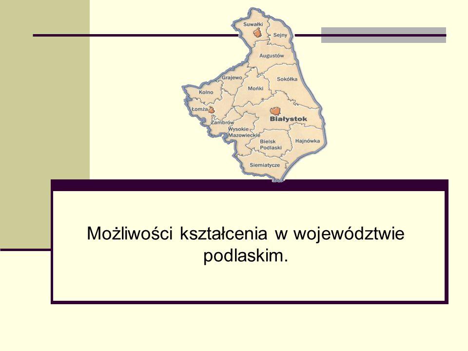 Możliwości kształcenia w województwie podlaskim.