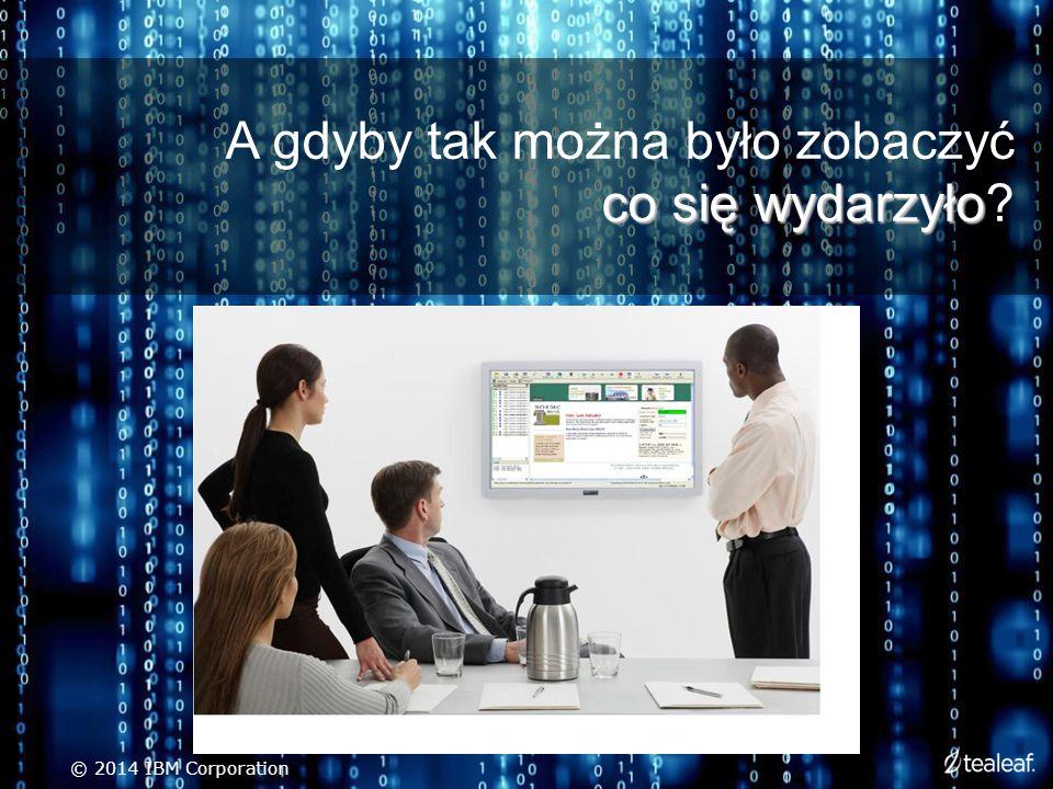 co się wydarzyło A gdyby tak można było zobaczyć co się wydarzyło © 2014 IBM Corporation