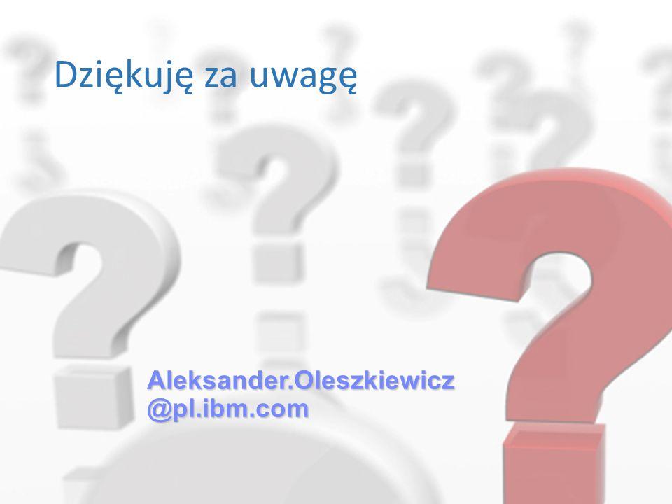 Aleksander.Oleszkiewicz @pl.ibm.com Dziękuję za uwagę