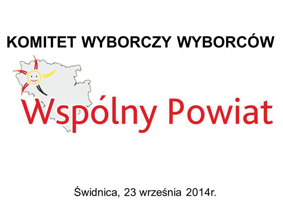 KOMITET WYBORCZY WYBORCÓW Świdnica, 23 września 2014r.