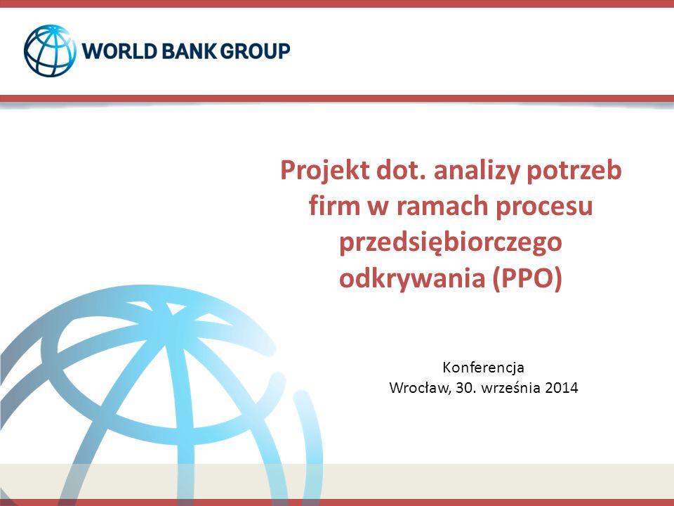 Główne elementy projektu o 1,000 firm w 4 województwach, o 10 inteligentnych specjalizacji (IS).