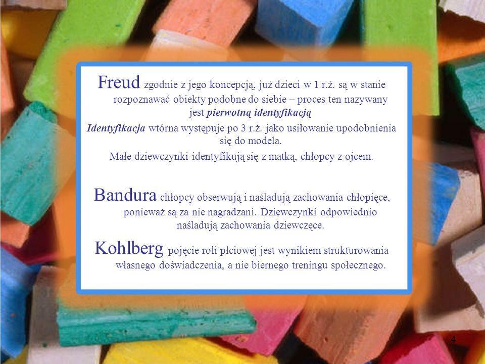 Freud zgodnie z jego koncepcją, już dzieci w 1 r.ż. są w stanie rozpoznawać obiekty podobne do siebie – proces ten nazywany jest pierwotną identyfikac