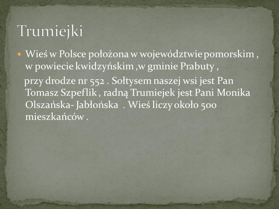 Wieś w Polsce położona w województwie pomorskim, w powiecie kwidzyńskim,w gminie Prabuty, przy drodze nr 552. Sołtysem naszej wsi jest Pan Tomasz Szpe