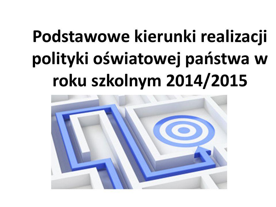 Zmiany w ustawie o systemie oświaty W dniu 24 kwietnia 2014 r.