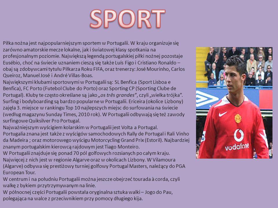 Piłka nożna jest najpopularniejszym sportem w Portugalii.