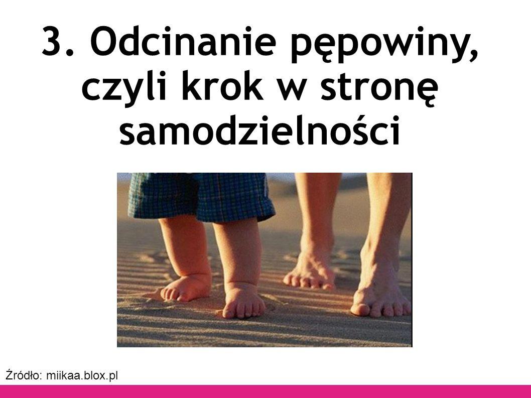 Źródło: miikaa.blox.pl 3. Odcinanie pępowiny, czyli krok w stronę samodzielności