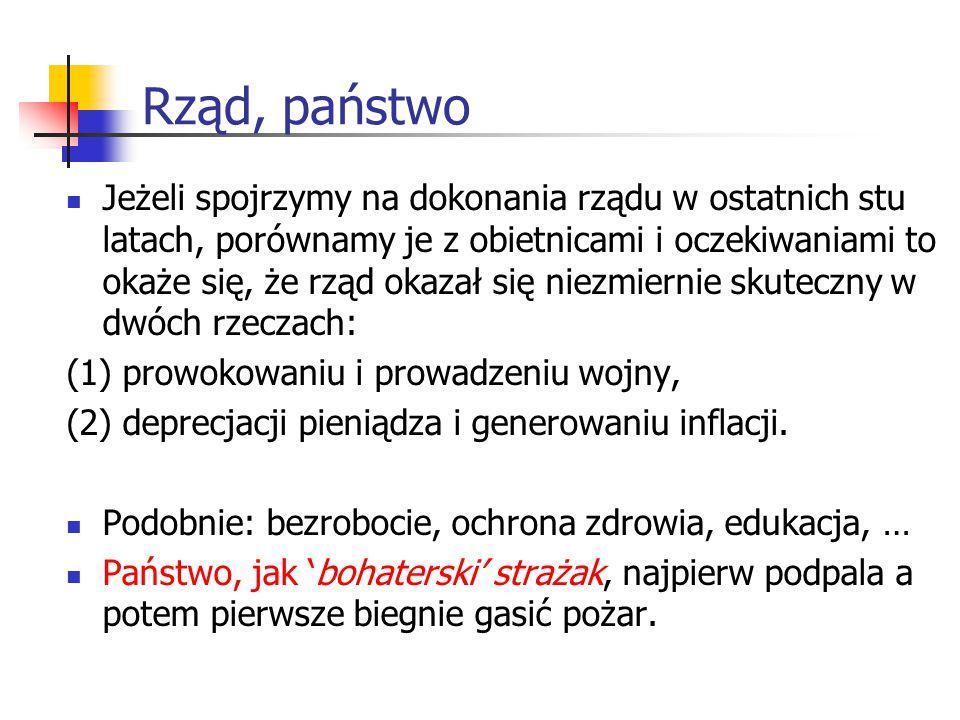 Witold Kwaśnicki (INE, UWr), Notatki do wykładów Czy rząd jest naprawdę potrzebny.