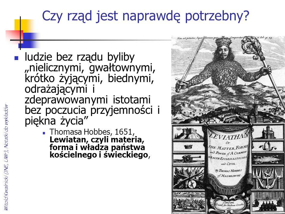 Witold Kwaśnicki (INE, UWr), Notatki do wykładów Czy należy postulować, za anarchistami, stworzenie społeczeństwa bez rządu.