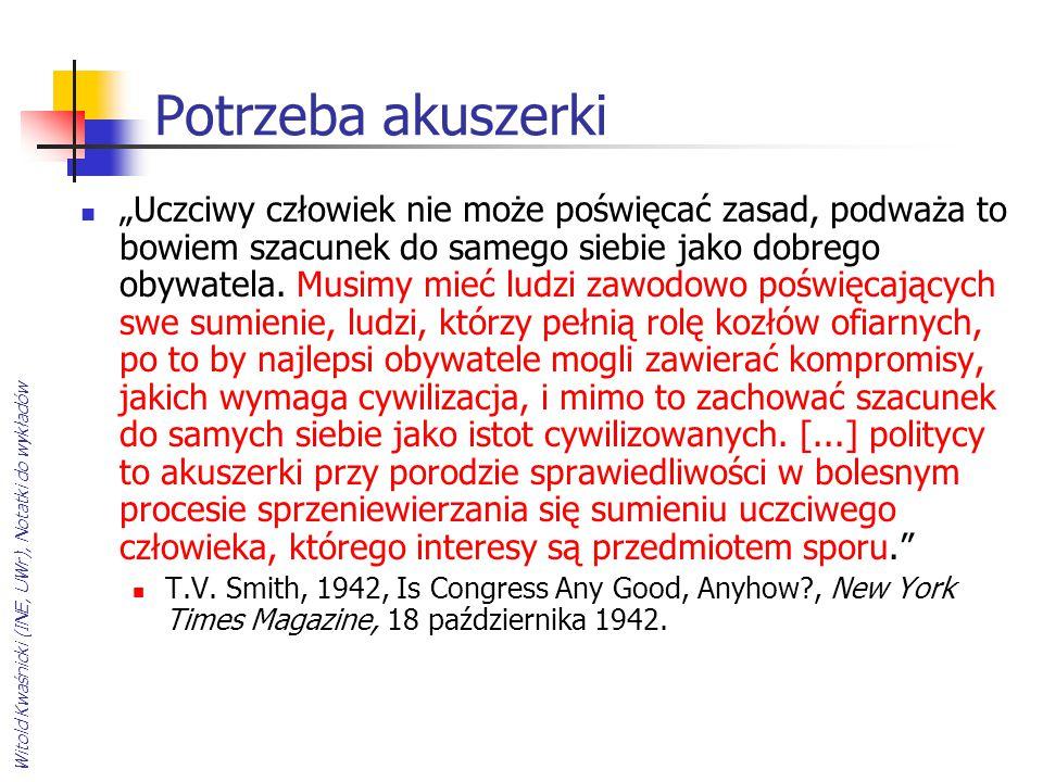 """Witold Kwaśnicki (INE, UWr), Notatki do wykładów Potrzeba akuszerki """"Uczciwy człowiek nie może poświęcać zasad, podważa to bowiem szacunek do samego s"""