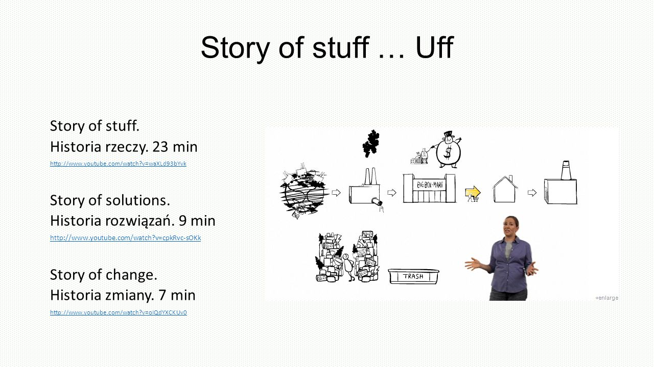 Story of stuff … Uff Story of stuff.Historia rzeczy.