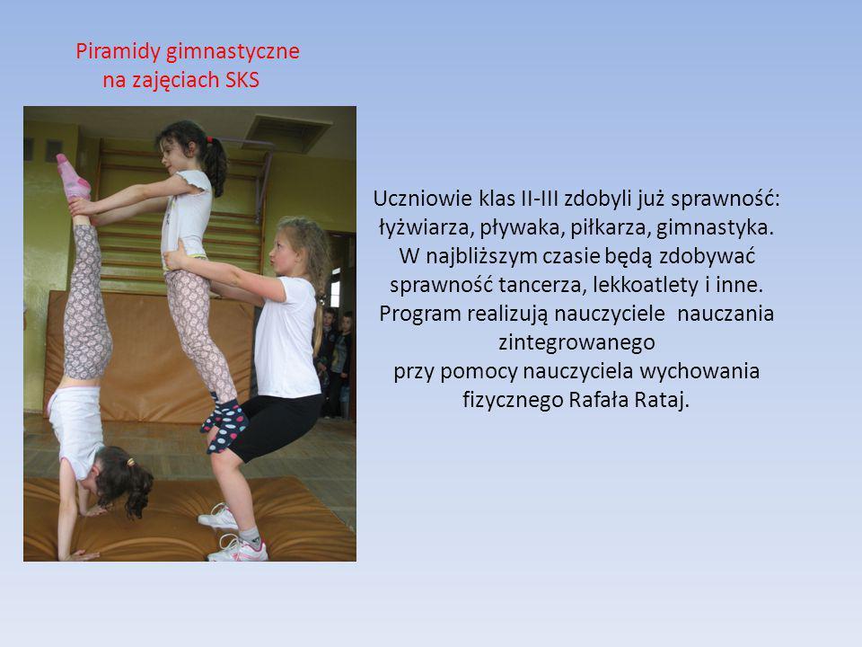 Uczniowie klas II-III zdobyli już sprawność: łyżwiarza, pływaka, piłkarza, gimnastyka.