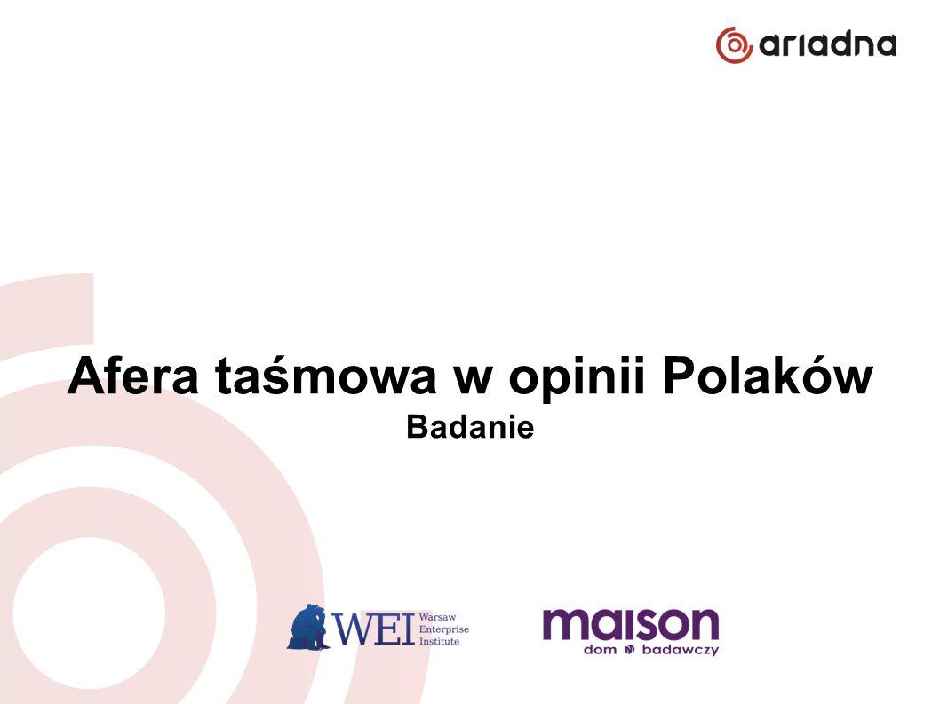 Afera taśmowa w opinii Polaków czerwiec 2014 Afera taśmowa w opinii Polaków Badanie