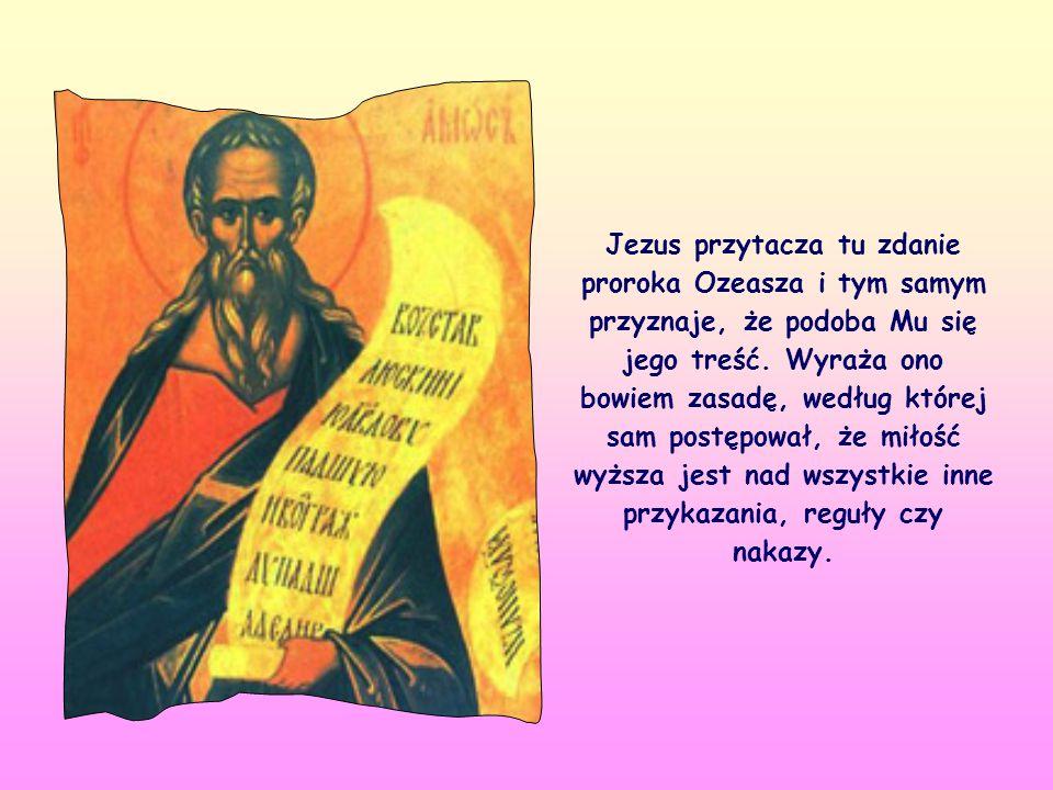 «Idźcie i starajcie się zrozumieć, co znaczy: Chcę raczej miłosierdzia niż ofiary» (Mt 9,13).