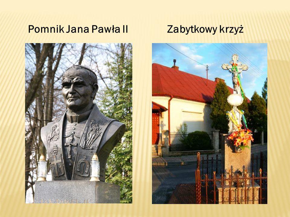Pomnik Jana Pawła ll Zabytkowy krzyż