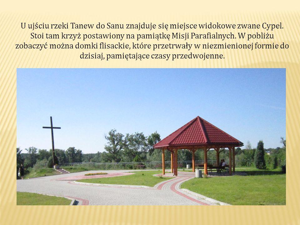 U ujściu rzeki Tanew do Sanu znajduje się miejsce widokowe zwane Cypel.