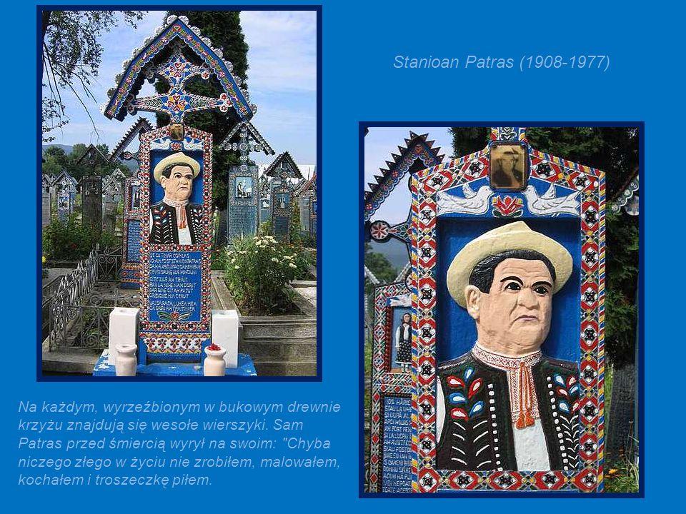 Nagrobek założyciela cmentarza (Creatorul) - Stanioan Patras (1908-1977).