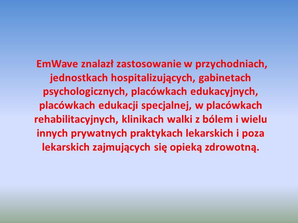 EmWave znalazł zastosowanie w przychodniach, jednostkach hospitalizujących, gabinetach psychologicznych, placówkach edukacyjnych, placówkach edukacji