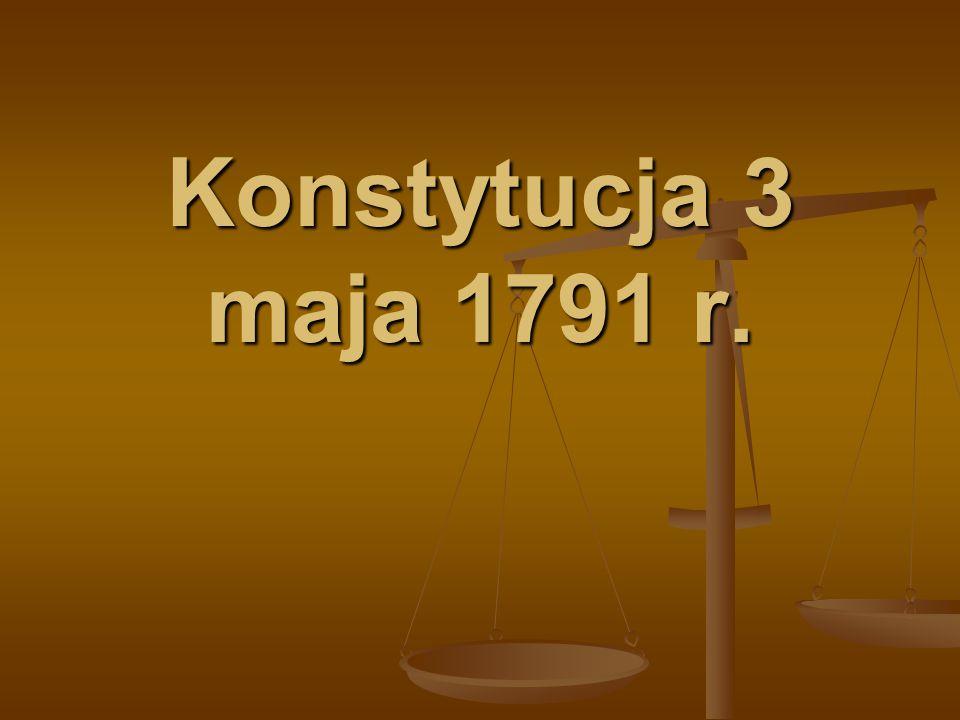 Konstytucja 3 maja 1791 r.