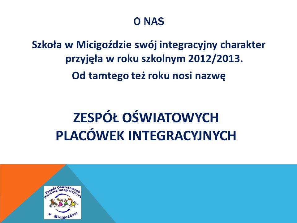 O NAS Szkoła w Micigoździe swój integracyjny charakter przyjęła w roku szkolnym 2012/2013. Od tamtego też roku nosi nazwę ZESPÓŁ OŚWIATOWYCH PLACÓWEK