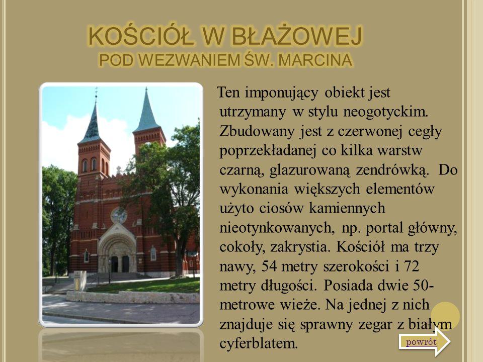 Ten imponujący obiekt jest utrzymany w stylu neogotyckim. Zbudowany jest z czerwonej cegły poprzekładanej co kilka warstw czarną, glazurowaną zendrówk