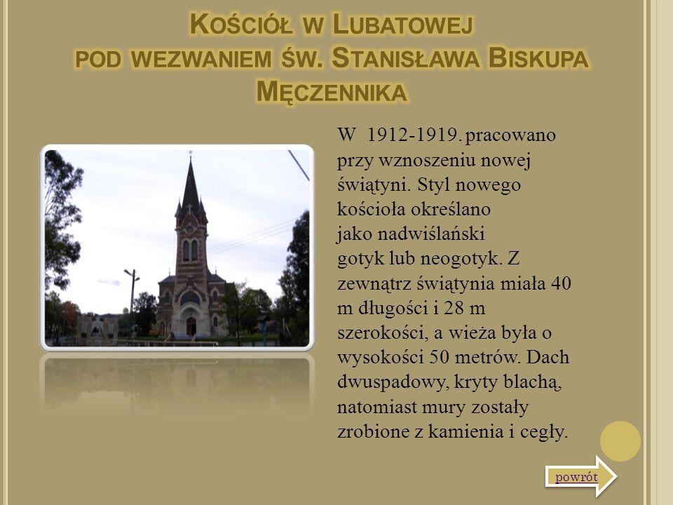 W 1912-1919. pracowano przy wznoszeniu nowej świątyni. Styl nowego kościoła określano jako nadwiślański gotyk lub neogotyk. Z zewnątrz świątynia miała