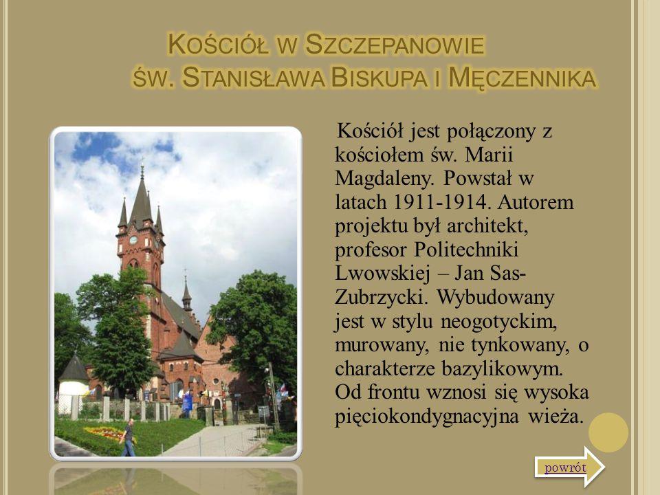 Kościół jest połączony z kościołem św. Marii Magdaleny. Powstał w latach 1911-1914. Autorem projektu był architekt, profesor Politechniki Lwowskiej –