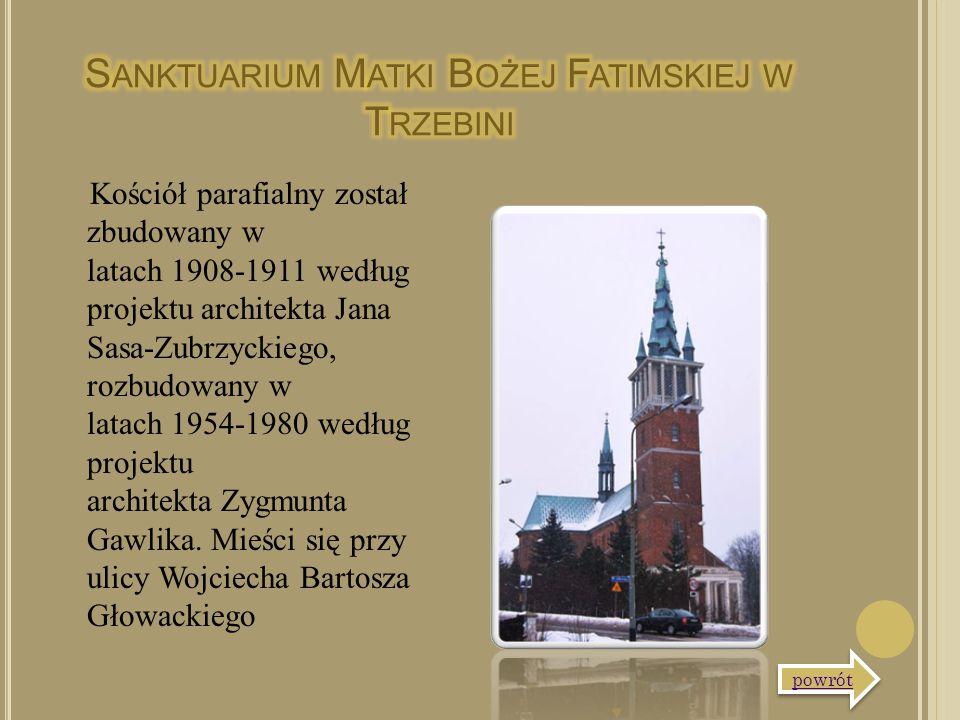 Kościół parafialny został zbudowany w latach 1908-1911 według projektu architekta Jana Sasa-Zubrzyckiego, rozbudowany w latach 1954-1980 według projek