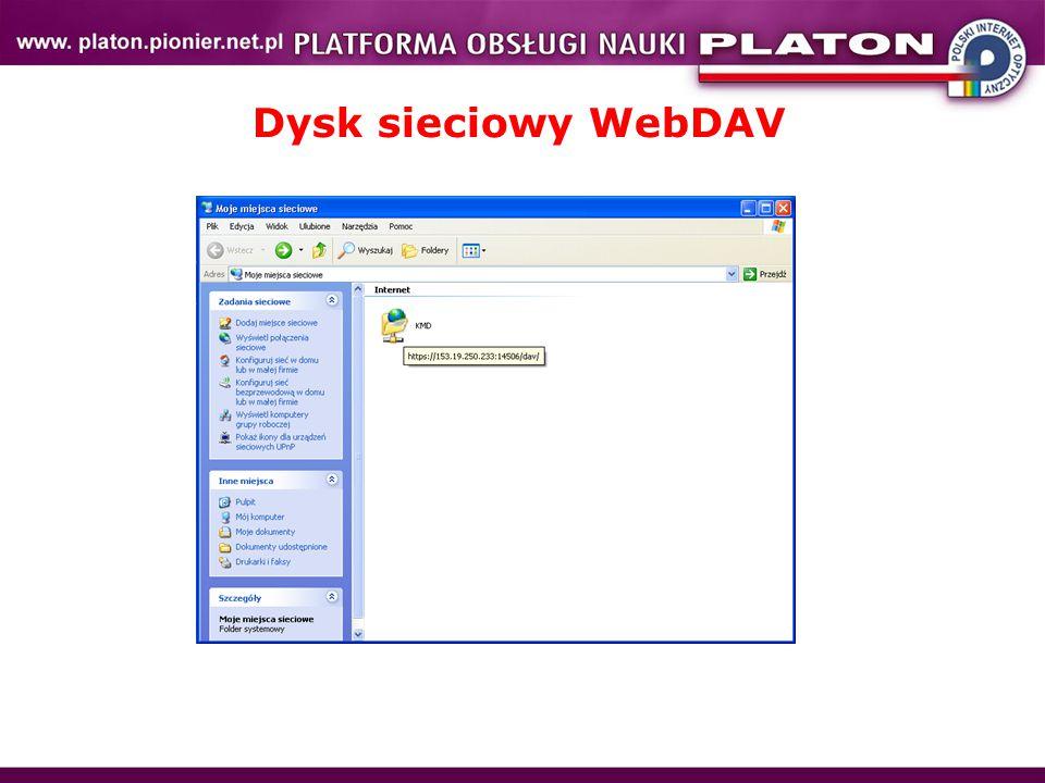 Dysk sieciowy WebDAV