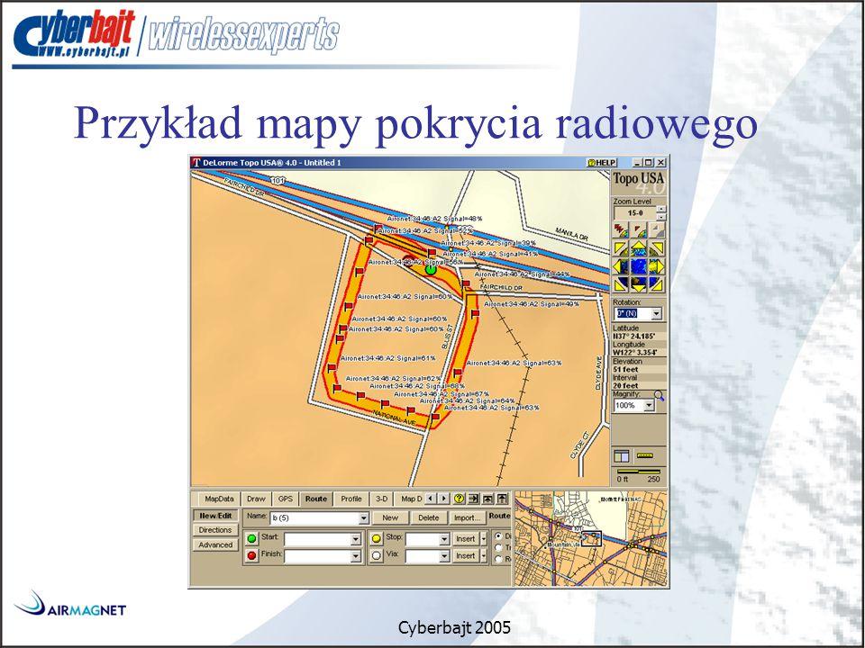 Cyberbajt 2005 Przykład mapy pokrycia radiowego