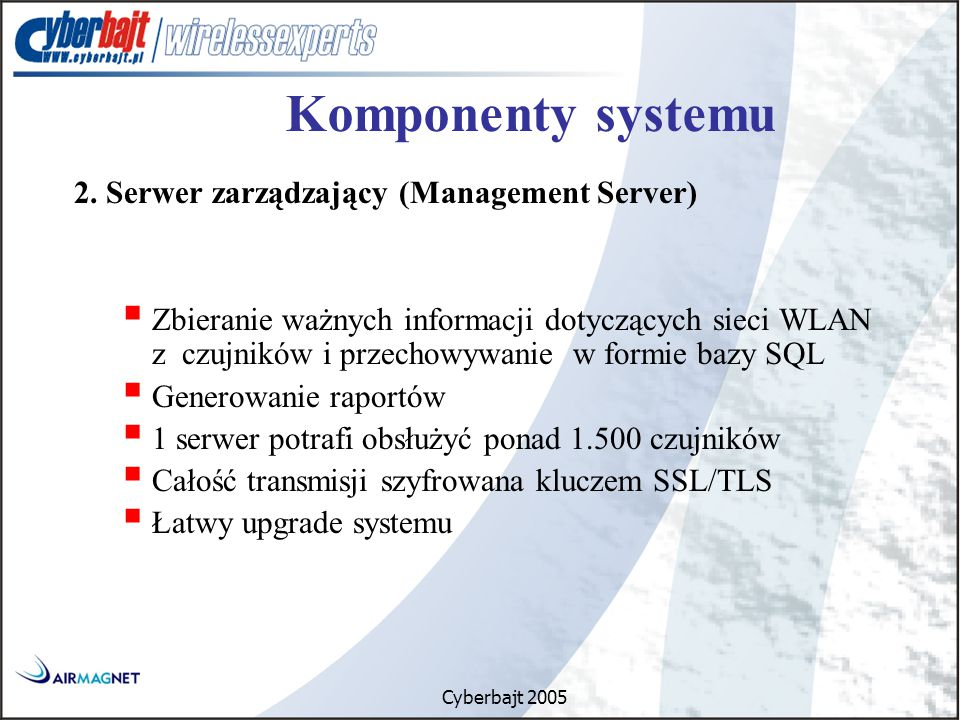 Cyberbajt 2005 Komponenty systemu 2.