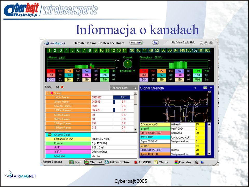 Cyberbajt 2005 Informacja o kanałach