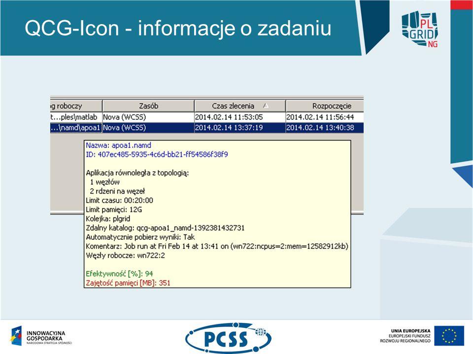 QCG-Icon - informacje o zadaniu