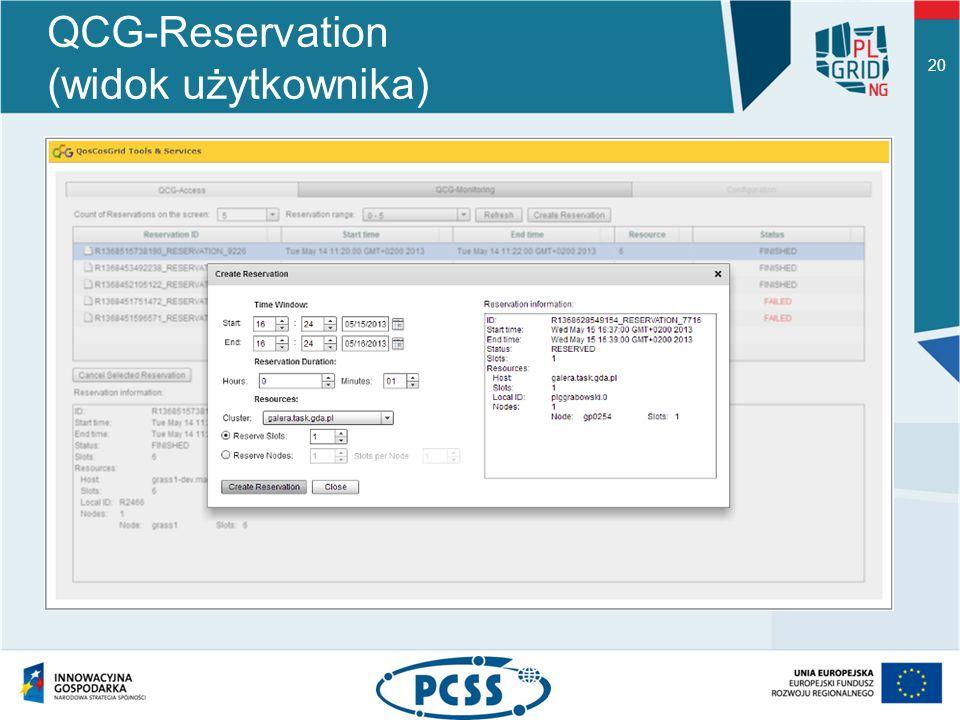 QCG-Reservation (widok użytkownika) 20