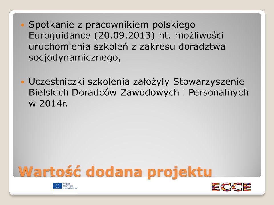 Wartość dodana projektu Spotkanie z pracownikiem polskiego Euroguidance (20.09.2013) nt.