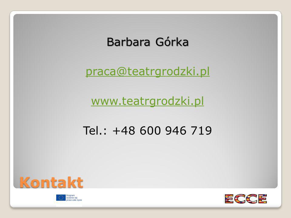 Kontakt Barbara Górka praca@teatrgrodzki.pl www.teatrgrodzki.pl Tel.: +48 600 946 719
