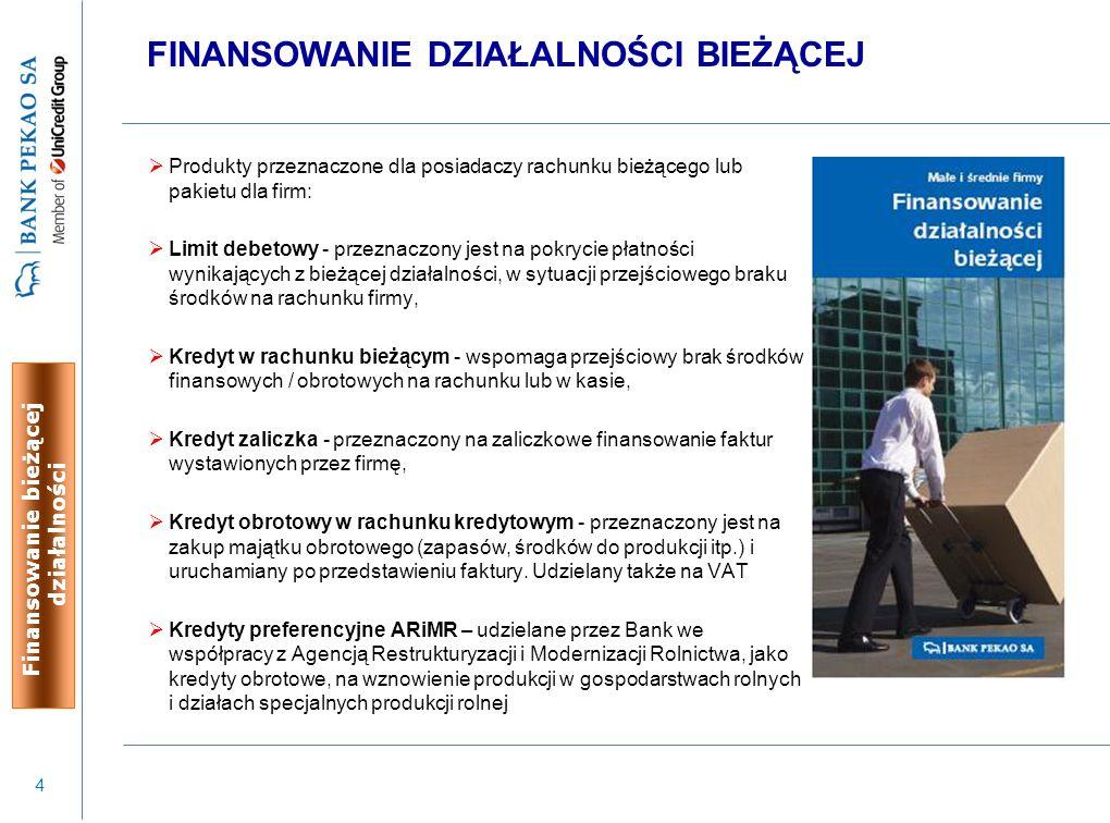 15 BANKOWOŚĆ ELEKTRONICZNA PEKAOFIRMA 24 Nowoczesny system bankowości elektronicznej zapewniający kompleksowe zarządzanie środkami finansowymi z zachowaniem najwyższych standardów bezpieczeństwa.