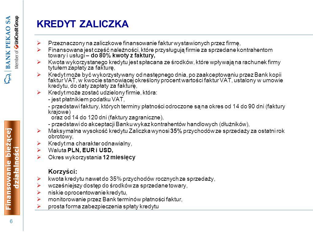 7 Kwota kredytu:  Maksymalna kwota kredytu – 20.000 PLN Okres kredytowania:  Kredyt jest nieodnawialny i udzielany na okres do 12 miesięcy, z harmonogramem spłat w ratach miesięcznych.