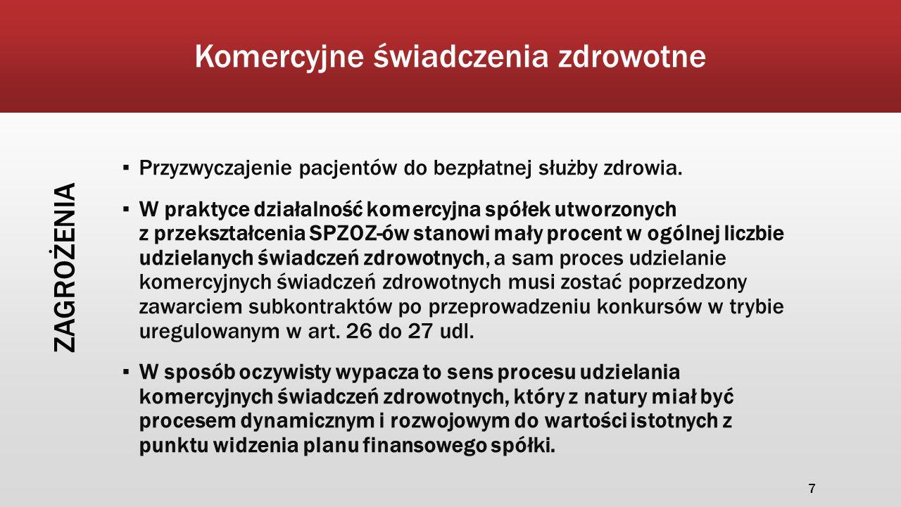 ▪ ustawa o zmianie ustawy o świadczeniach opieki zdrowotnej finansowanych ze środków publicznych oraz niektórych innych ustaw wejdzie w życie 1 stycznia 2015 r., część przepisów wchodzi w życie także z dniem ogłoszenia tj.