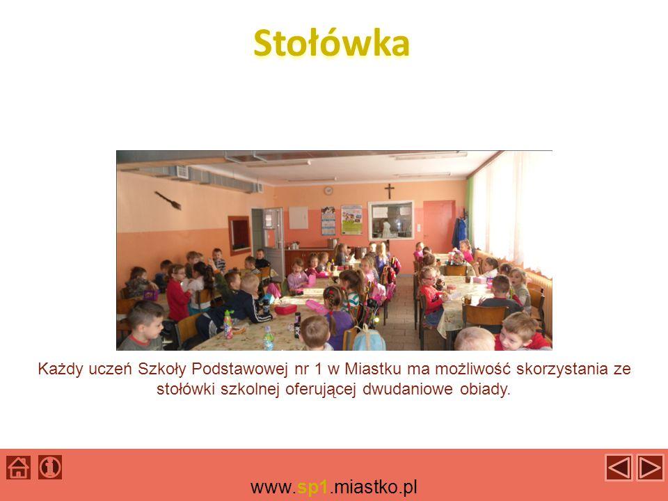 Stołówka Każdy uczeń Szkoły Podstawowej nr 1 w Miastku ma możliwość skorzystania ze stołówki szkolnej oferującej dwudaniowe obiady.