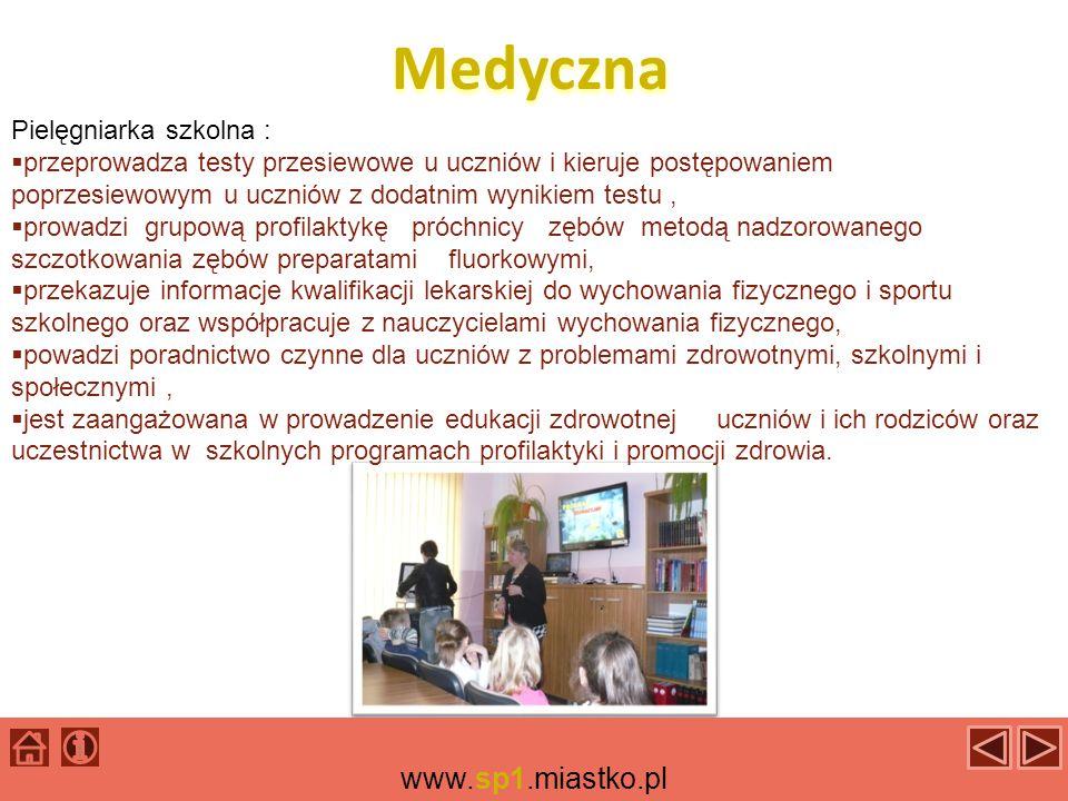 Pedagogiczna Pedagogiem szkolnym jest p.Małgorzata Śliżewska, która zajmuje się m.in.