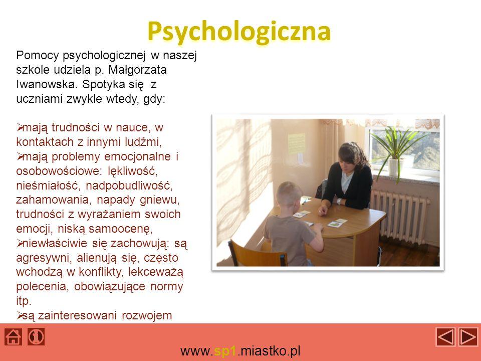 Specjalistyczna W naszej szkole pomocy udzielają również pedagodzy specjalni - oligofrenopedagodzy.