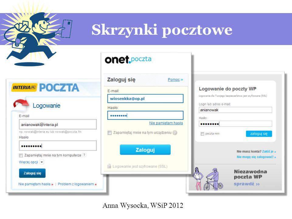 Anna Wysocka, WSiP 2012 Skrzynki pocztowe