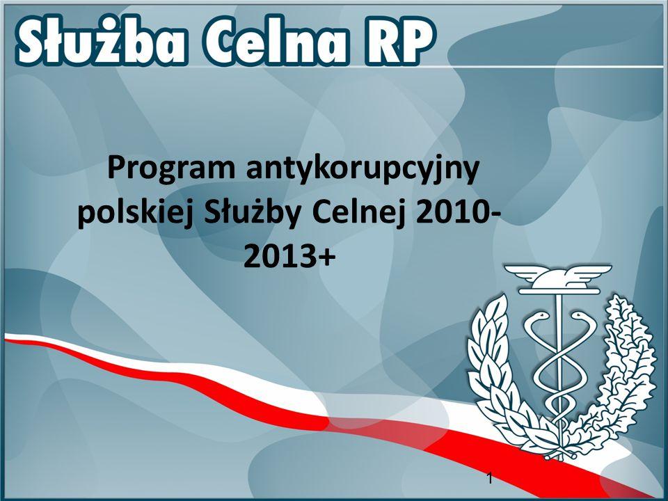 1 Program antykorupcyjny polskiej Służby Celnej 2010- 2013+