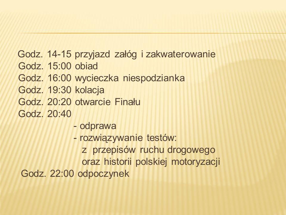 Godz.8:00 śniadanie Godz. 8:45 wykwaterowanie, przejazd na Tor Poznań Przeźmierowo ul.
