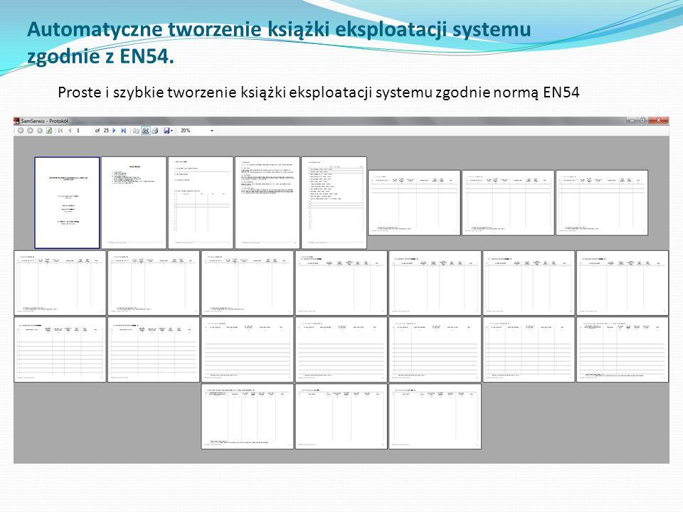 Pełna ewidencja wyposażenia systemu (centrale, urządzenia, urządzenia promieniotwórcze Centrale oraz urządzenia znajdujące się w systemie są przechowywane w bazie danych programu.
